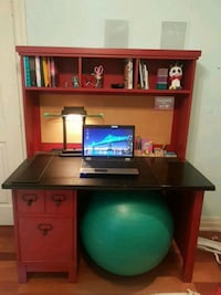 Youth desk with matching shelf unit and corkboard  Toronto, M4E 3C1