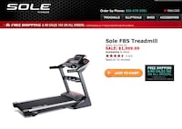 Brand New Sole F85 treadmill  Germantown, 20874