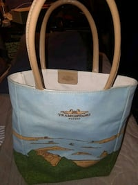 white and blue leather tote bag San Diego, 92110