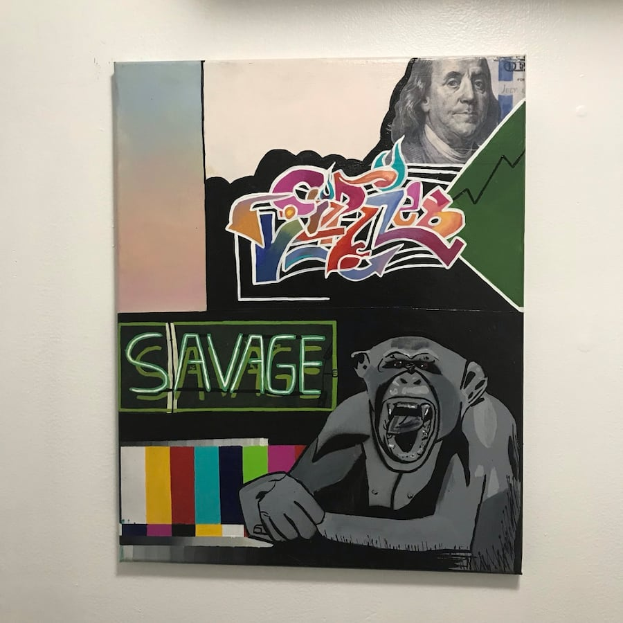16x20inch savage money monkey