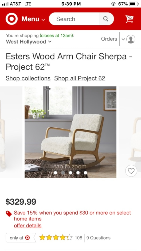 Fantastic Esters Wood Arm Chair Sherpa Project 62 Evergreenethics Interior Chair Design Evergreenethicsorg