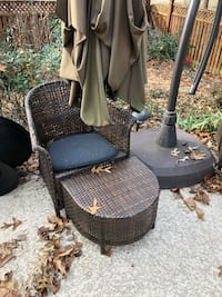 Two outdoor chairs with ottomans. Or best offer   Bristow, 20136