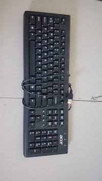 black corded Acer computer keyboard 787 km