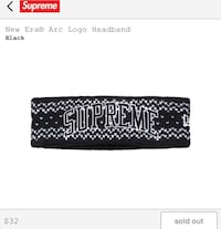 Supreme New Era Arc Logo Headband
