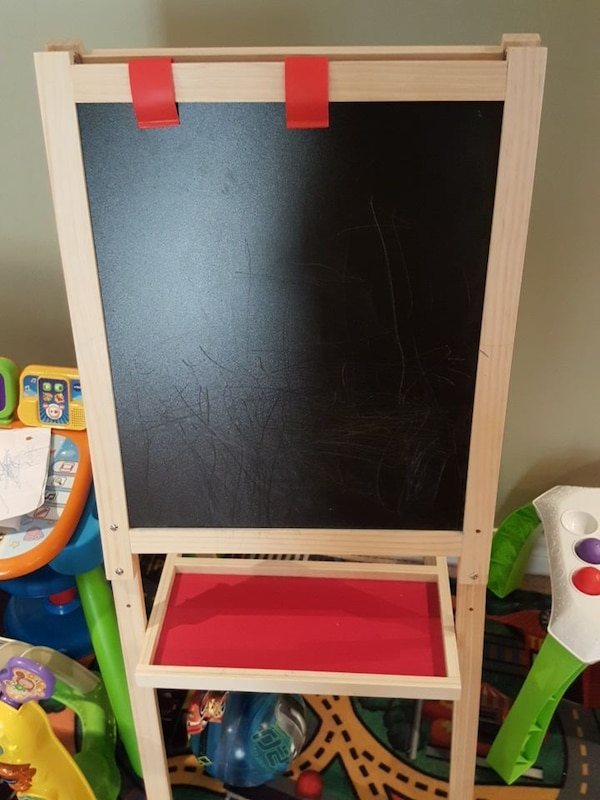 Kids chalk board  and drawing stand