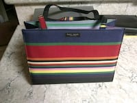 black, red, and green striped leather bag 1273 mi