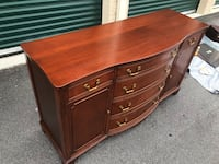 Mahogany Buffet with a Protective Glass Top  Holly Springs, 27540