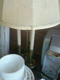 white table lamp with cone beige lampshade Annandale, 22003