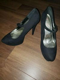 JustFab pair of black suede platform stilettos Whitby, L1N 2K2