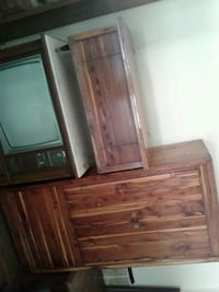 Cedar wardrobe  good condition.  And cedar chest a Tupelo, 38804