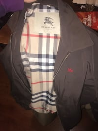 Medium Burberry jacket worth 800 looking for trades  Calgary, T2B 2K4