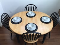Used Black Dining Table With Four Chairs For Sale In