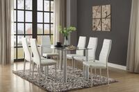 Florian 5538 White Dining Set 5-Piece (Table+4 Chairs) Houston