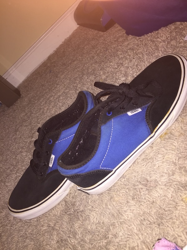 Used Blue black and white vans for sale in Raleigh - letgo 713effe73