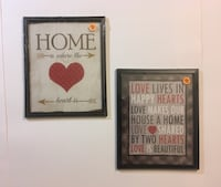 two quote wall decors with black wooden frame Dilworth