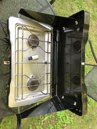 Coleman propane camp stove. I have one with my camper, so I don't need this one anymore. Works great! Lorton, 22079
