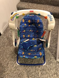 baby's white and blue bouncer Eden Prairie, 55346