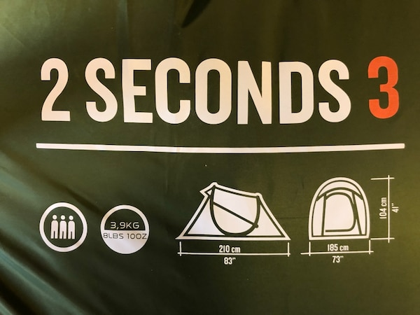 3 Person Tent.  2 seconds to pop up!