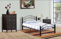 Brand new metal bed with 4 wooden posts on sale  548 km