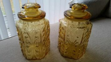 Glass Center Vases or containers decor.