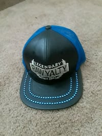 blue and black Adidas fitted cap Rochester, 14621