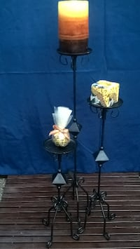 two black metal candle holders Copperopolis