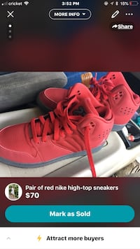 pair of red Nike high-top sneakers screenshot Weslaco, 78599