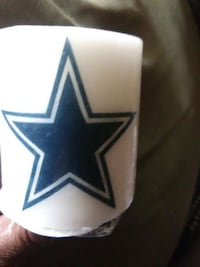 white Dallas Cowboys pillar candle Greensboro, 27405