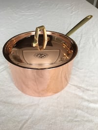 Paul revere copper sauce pot with lid. Marked 1801 Paul Revere USA Ringgold, 30736