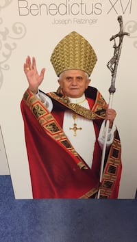 Pope benedictus xvi poster mounted on wood ready to hang 24x36