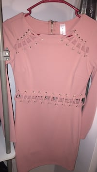 pink scoop-neck long-sleeved shirt Burke, 22015