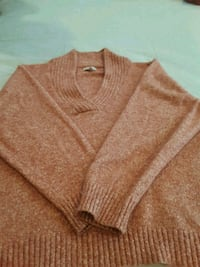 brown v-neck sweater Lawton, 49065