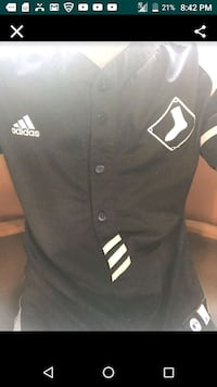 black and white Adidas jersey New Orleans, 70119
