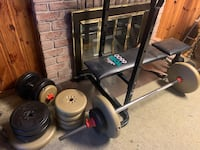 Selling weights, barbell, and bench Toronto, M1S 5C4