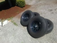 black bullet hole car wheel with tire set Orting, 98360