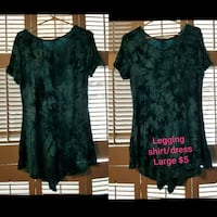 two green and black floral dress Tyler, 75701