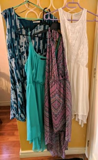 Four summer dresses (all size large)