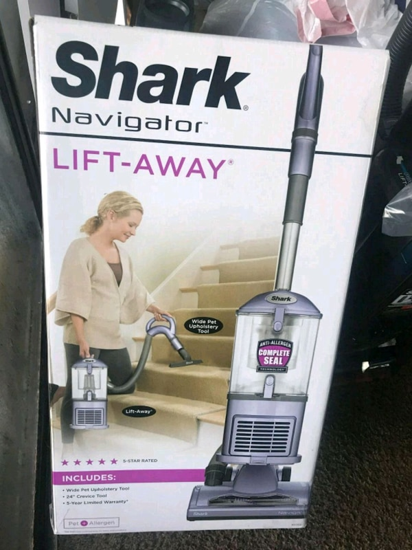 Shark upright vacuum cleaner box