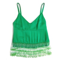 PRADA - NWT Sleeveless Beaded Fringe Blouse Brampton, L6W