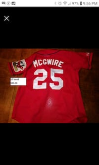 St. Louis Cardinals McGwire youth SZ small jersey Upper Tantallon, B3Z 1L3
