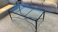 Wrought Iron Glass Coffee Table Gaithersburg