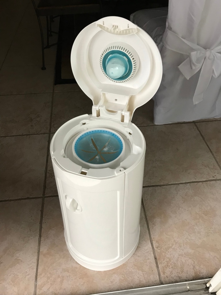 Photo White and blue water purifier