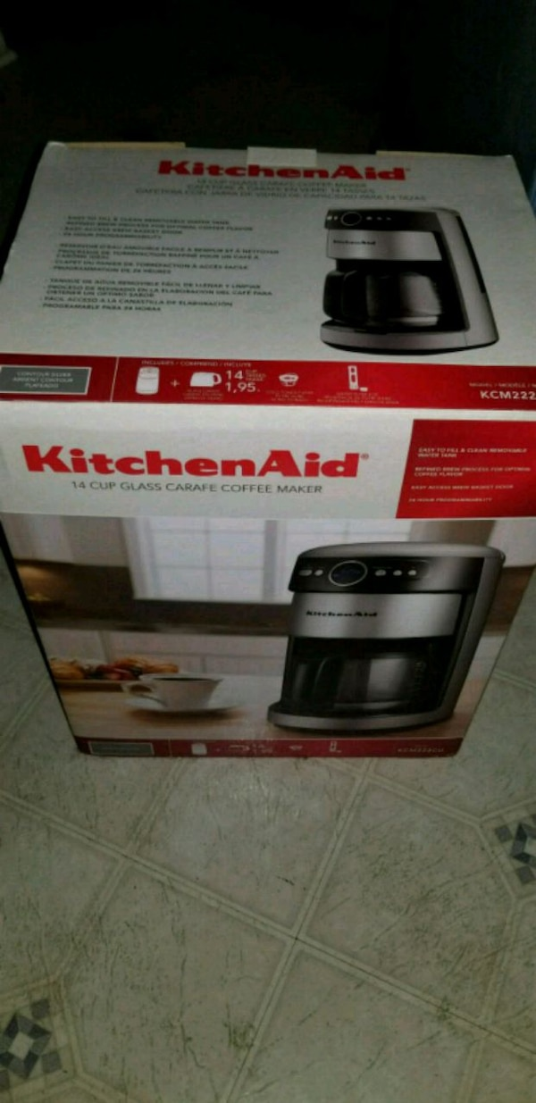 KitchenAid 14 Cup Coffee Maker Nvr Out of Box $45
