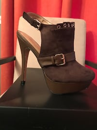 Adorable JustFab Ceci Size 7 Brown Silver Spring, 20902