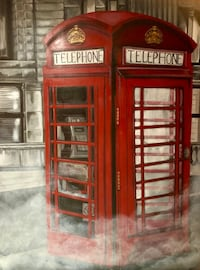"""Lost call"" London phonebooth  Toronto, M9L 1G3"