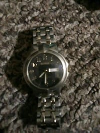 round silver-colored analog watch with link bracelet Wichita, 67202