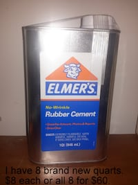 NEW Rubber Cement Quarts * Great 4 Crafts Martinsburg, WV, USA