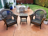 Rattan and wicker chairs and table. Moorpark, 93021