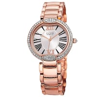 NEW Burgi BUR101RG Rose-Tone Crystal Stainless Steel Watch Toronto
