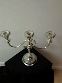 two stainless steel candle holders Temecula, 92592